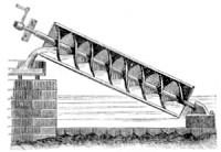 Drawing of Archimedes' Screw