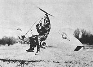 Hafner Rotachute flying