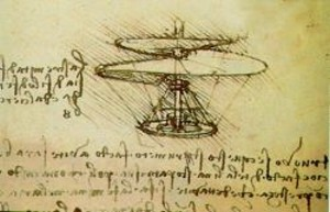 Da Vinci's Helicopter Drawing